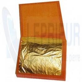 Carnet de 25 feuilles d'or 22 kts demi-jaune vif