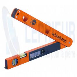 Sauterelle d'angle digitale lg 600 mm - 2 fioles - 0 à 180°
