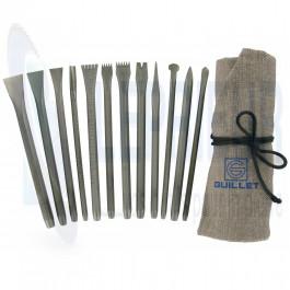 Trousse Taille de Pierre 12 outils à main