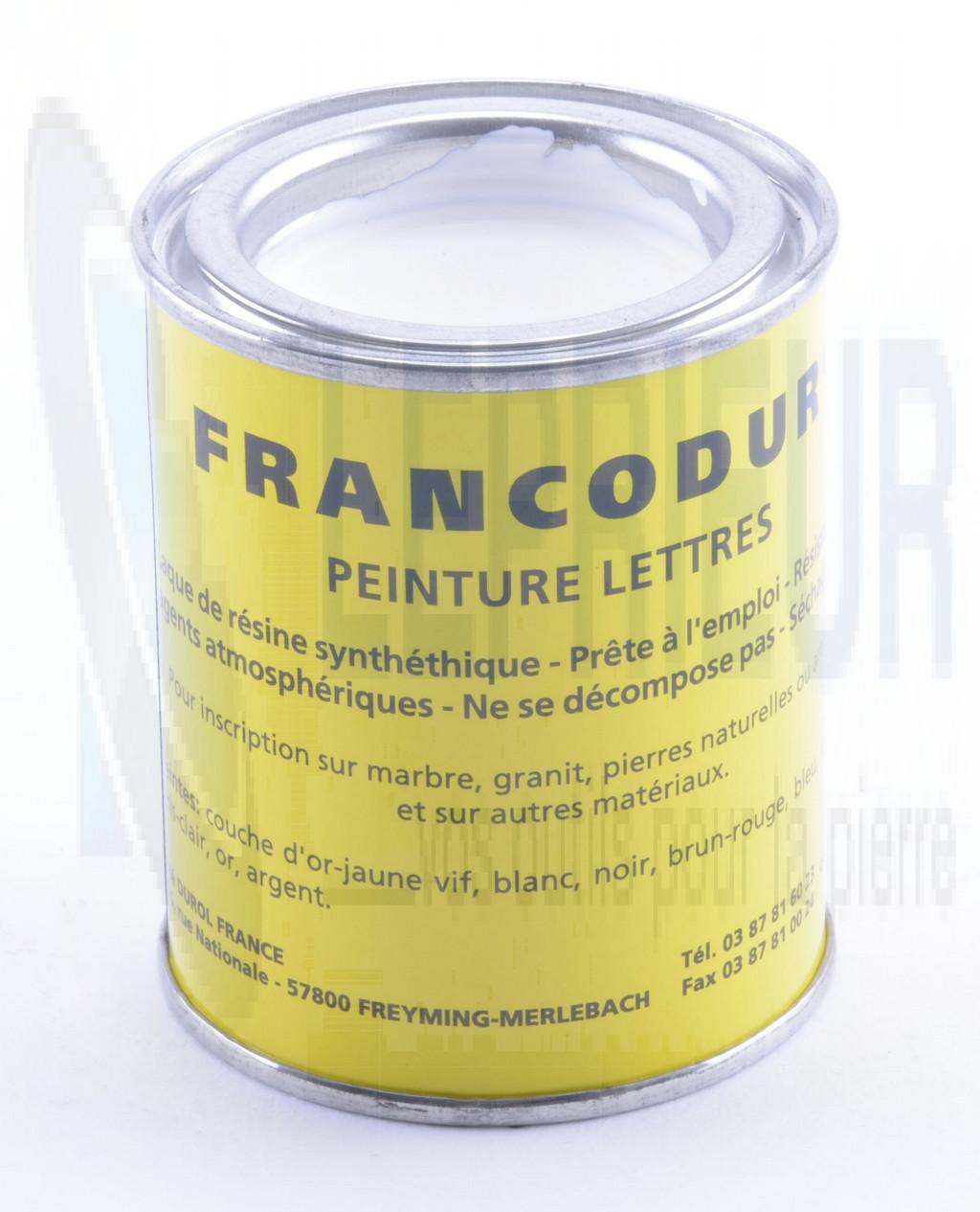 Flacon peinture 105 ml blanche peinture diluant gravure sculpture for Peinture blanche