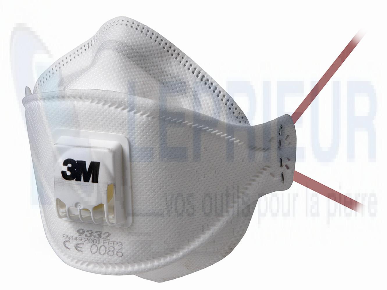 masque anti poussi res ffp3 nr 3m 9332 masque poussi re e p i. Black Bedroom Furniture Sets. Home Design Ideas
