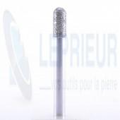Fraise diamant T6 40/50 cylindrique avec rayon Ø 6.5