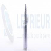 Fraise diamant T6 60/80 conique avec rayon 10°x25